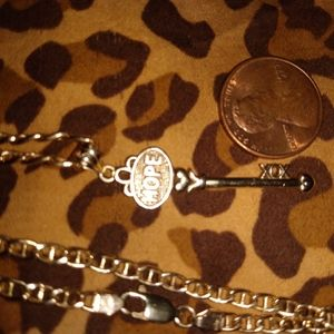 Solid gold 14kt italy chain . and key